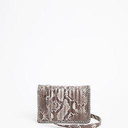snakeskin print shoulder bag | Express