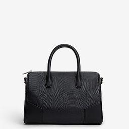 faux snakeskin bowler bag | Express