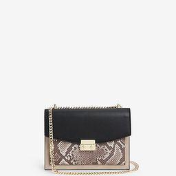 chain strap front lock shoulder bag | Express