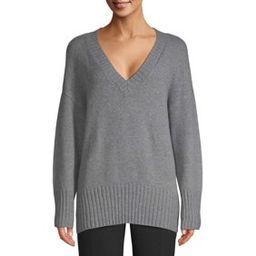 Scoop Slouchy V-Neck Sweater Women's | Walmart (US)