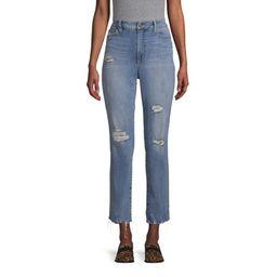 Scoop Crop Straight Jean Light Wash Women's | Walmart (US)