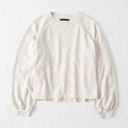 Puff-Sleeve Crewneck Sweatshirt | Abercrombie & Fitch US & UK