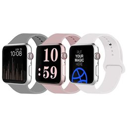VATI Sport Band Compatible for Apple Watch Band 38mm 40mm 42mm 44mm, Soft Silicone Sport Strap Re... | Amazon (US)