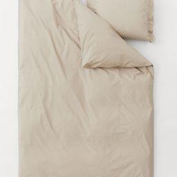 Cotton Percale Duvet Cover Set   H&M (US)