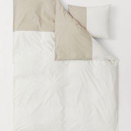 Color-block Duvet Cover Set   H&M (US)