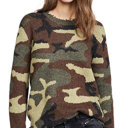 Camo Cashmere Crew Sweater   Shopbop