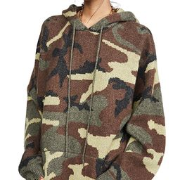 Camo Cashmere Hoodie Sweater   Shopbop