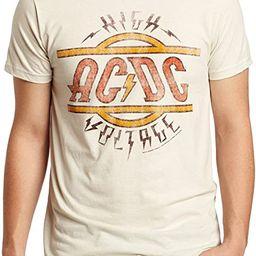 Impact Men's AC DC High Voltage T-Shirt, Vintage White, Medium | Amazon (US)