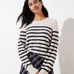 Stripe Draped Sleeve Sweater | LOFT | LOFT