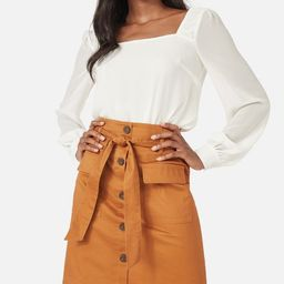 Paperbag Button Front Skirt | JustFab