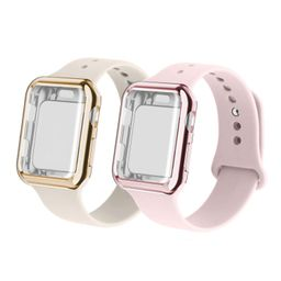 RUOQINI Smartwatch Band with Case Compatiable for Apple Watch Band, Silicone Sport Band and TPU C...   Amazon (US)