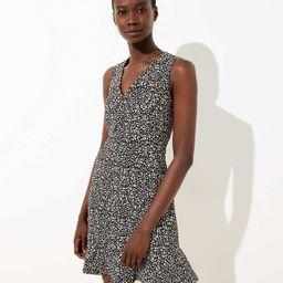 Leopard Print Flounce Dress | LOFT | LOFT