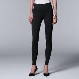 Women's Simply Vera Vera Wang Solid Leggings | Kohl's