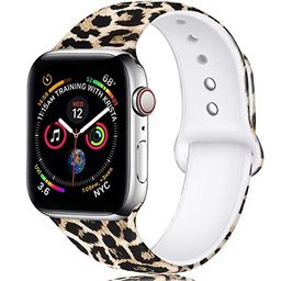 Laffav Compatible with Apple Watch Band 40mm 38mm 44mm 42mm for Women Men, Soft Silicone Sport Pa...   Amazon (US)