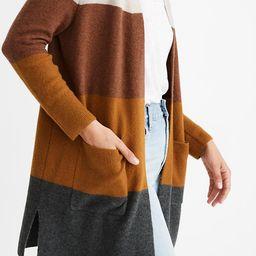 Kent Striped Cardigan Sweater in Coziest Yarn   Madewell