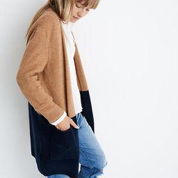 Kent Colorblock Cardigan Sweater in Coziest Yarn   Madewell