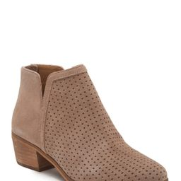 SUSINA   Kyle Perforated Suede Ankle Bootie   Nordstrom Rack   Nordstrom Rack