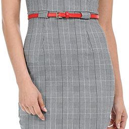 Auliné Collection Women's Color Office Workwear Sleeveless Sheath Dress | Amazon (US)