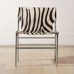 Potter Zebra Print Hair On Hide Chair + Reviews | CB2 | CB2