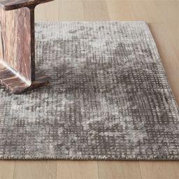 Queue Grey Modern Grid Rug | CB2 | CB2
