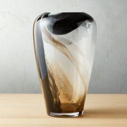 Surge Black and White Glass Vase + Reviews | CB2 | CB2