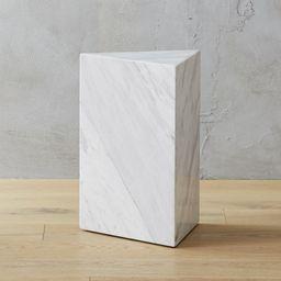 Tri White Marble Side Table + Reviews | CB2 | CB2