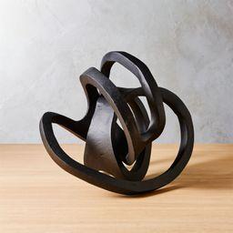 Infinity Black Knot Sculpture + Reviews | CB2 | CB2