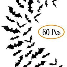 Fntacetik Halloween Bats Wall Decor, 60 Pcs Bats Halloween Decorations Window Clings Wall Decals ...   Amazon (US)