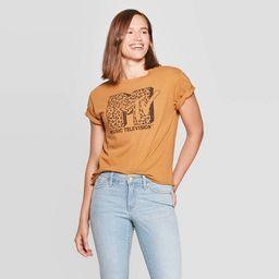 Women's MTV Leopard Short Sleeve T-Shirt (Juniors') - Brown Sugar | Target
