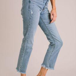 Emmie High Rise Straight Leg Jeans | Morning Lavender