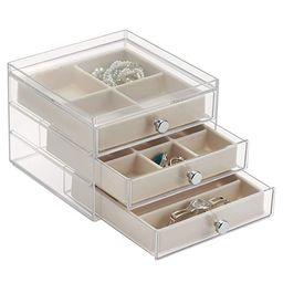 iDesign Plastic 3 Jewelry Box, Compact Storage Organization Drawers Set for Cosmetics, Hair Care,...   Amazon (US)