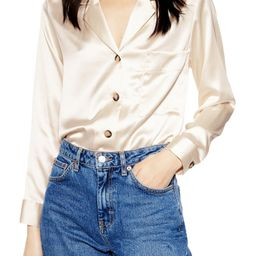 Satin Button-Up Shirt | Nordstrom