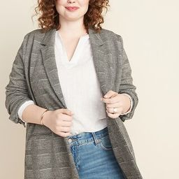 Boyfriend Jacquard Plus-Size Blazer | Old Navy (US)