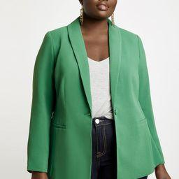 Shawl Collar One-Button Blazer | Eloquii