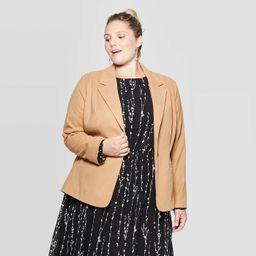 Women's Plus Size Blazer - Ava & Viv™ Tan | Target