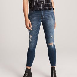 Ripped Low Rise Ankle Jeans | Abercrombie & Fitch US & UK
