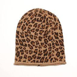 D&Y Women's Leopard Animal Print Slouchy Beanie | Amazon (US)