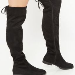 Black Tie Back Over The Knee Boots | rue21