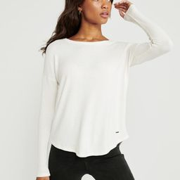 Long-Sleeve Cozy Tee | Abercrombie & Fitch US & UK