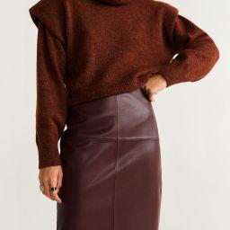 Faux-leather skirt | MANGO (US)