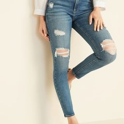Mid-Rise Distressed Rockstar Super Skinny Jeans for Women   Old Navy (US)