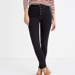 """10"""" High-Rise Skinny Jeans in Berkeley Black: Button-Through Edition 