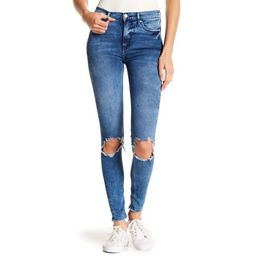 Free People Womens Busted Knee Skinny Jeans (Turquoise, 28)   Walmart (US)