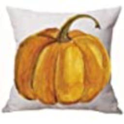 Autumn Happy Fall Y'all Pumpkin Watercolor Cotton Linen Throw Pillow Cover Cushion Case Home Chai... | Amazon (US)