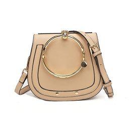 Yoome Women Punk Circular Ring Handle Handbags Small Round Purse Crossbody Bags For Girls | Amazon (US)