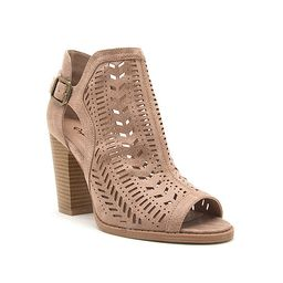 Qupid Womens Cadence 12x Booties Stacked Heel | JCPenney