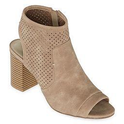 a.n.a Womens Tasha Zip Peep Toe Block Heel Booties | JCPenney