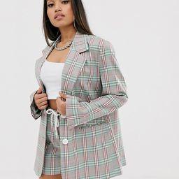 COLLUSION Petite check print blazer   ASOS US