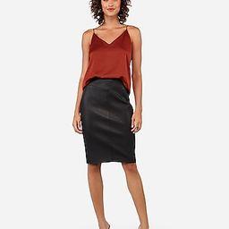 vegan leather seamed pencil skirt   Express