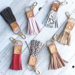 Leather Tassel Keychain. Bag Charm Handmade Keychain. Leather Tassel. Leather Keyring. Leather Ke... | Etsy (US)
